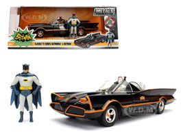 Batman Classic TV Series (1966) Batmobile Batman and Robin in 1/24 Diecast Model Car Jada 98259