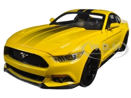 2016 Ford Mustang Gt 5.0 Yellow Limited Edition to 1002pcs 1/18 Diecast Model Car Autoworld AW229
