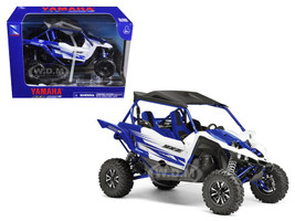 Yamaha YXZ 1000R Triple Cylinder Blue 1/18 Diecast Model New Ray 57813 A