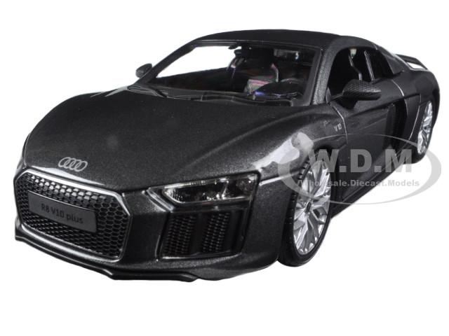 Audi R8 V10 Plus Grey Special Edition 1/24 Diecast Model Car Maisto 31513