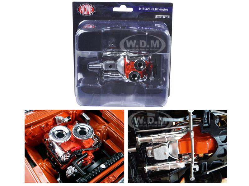 426 blown Hemi motor motor motor modelo 1:18//ACME