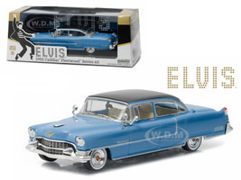 "Elvis Presley 1955 Cadillac Fleetwood Series 60 ""Blue Cadillac"" (1935-1977) 1/43 Diecast Model Car Greenlight 86493"