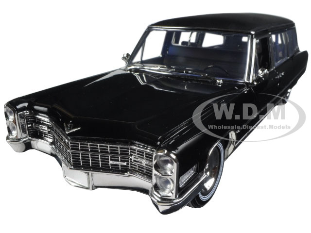 1966 Cadillac S&S Limousine Black Precision Collection Limited Edition 1/18 Diecast Model Car Greenlight 18002