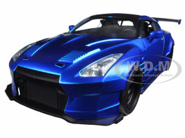 "Brian's 2009 Nissan GTR R35 Blue Ben Sopra ""Fast & Furious"" Movie 1/24 Diecast Model Car Jada 98271"