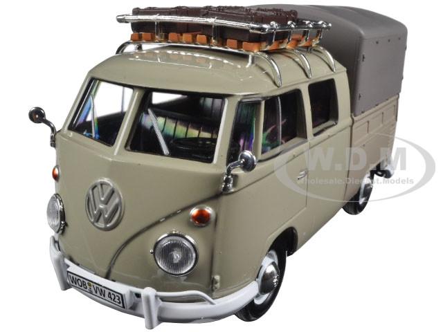 Volkswagen Type 2 (T1) Delivery Pickup Truck Beige 1/24 Diecast Model Car Motormax 79553
