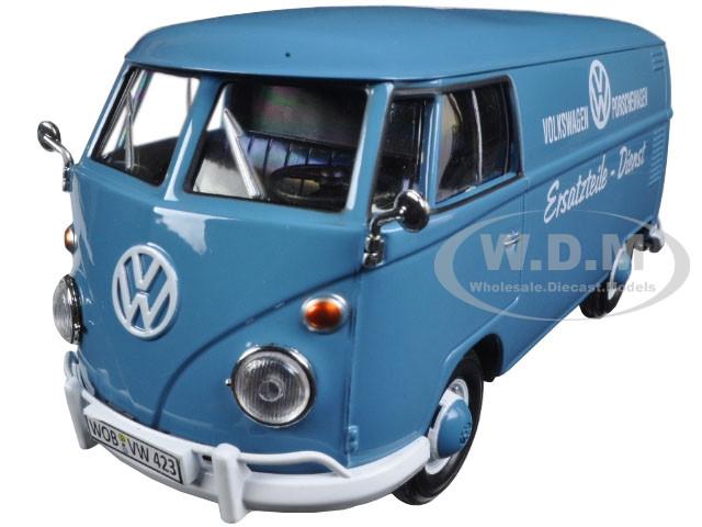 Volkswagen Type 2 (T1) Delivery Truck Blue Porsche Wagen 1/24 Diecast Model Car Motormax 79556