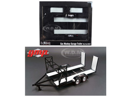 Tandem Car Trailer with Tire Rack Gas Monkey Garage 1/18 Diecast Model GMP 18836