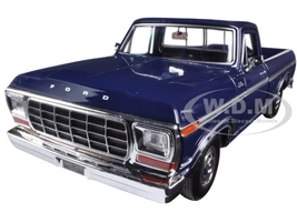 1979 Ford F-150 Pickup Truck Dark Blue 1/24 Diecast Model Car Motormax 79346