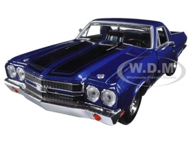 1970 Chevrolet El Camino SS 396 Blue 1/24 Diecast Model Car Motormax 79347