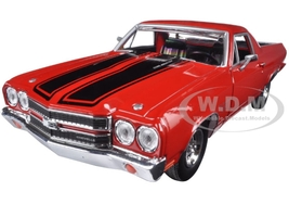 1970 Chevrolet El Camino SS 396 Red 1/24 Diecast Model Car Motormax 79347