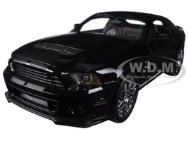 2013 Ford Mustang Shelby Cobra GT500 SVT Black Chrome Wheels 1/18 Diecast Model Car Shelby Collectibles SC392-1