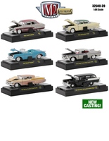 Auto Thentics 6 Piece Set Release 39 1/64 Diecast Model Cars M2 Machines 32500-39