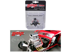1934 Blown 426 Nitro Coupe Drag Engine and Transmission Replica 1/18 GMP 18840