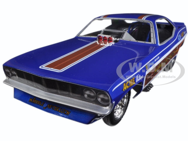Whipple & McCullough 1971 Plymouth Cuda Funny Car (Ed McCullough) Limited Edition to 750pcs 1/18 Model Car Autoworld AW1176