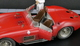 1956 Maserati 300S Dirty Hero with Engine, 2 Figurines, Miniature Award and Exclusive Showcase 1/18 Diecast Model Car CMC 172