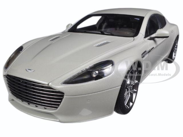 2015 Aston Martin Rapide S Silver Fox 1/18 Diecast Model Car Autoart 70258