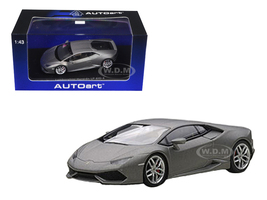 Lamborghini Huracan LP610-4 Matt Grey / Grigio Titans 1/43 Diecast Model Car Autoart 54602