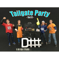 Tailgate Party Set II 4 Piece Figure Set For 1:18 Scale Models American Diorama 77595