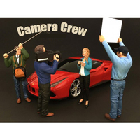 Camera Crew 4 Piece Figure Set For 1:18 Scale Models American Diorama 77427,77428,77429,77430