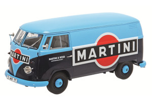 "Volkswagen T1B Box Van ""Martini"" Limited Edition to 1000pcs 1/18 Diecast Model Schuco 450028500"