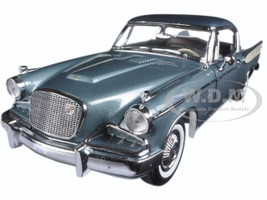 1957 Studebaker Golden Hawk Woodsmoke Gray 1/18 Diecast Model Car Sunstar 6151