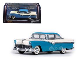 1956 Ford Fairlane Hard Top Bermuda Blue and Colonial White 1/43 Diecast Model Car Vitesse 36274