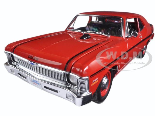 1970 Chevrolet Nova Yenko Deuce Cranberry Red Limited Edition to 660pcs 1/18 Diecast Model Car GMP 18830