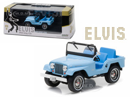 1963 Jeep CJ5 Sierra Blue Elvis Presley (1935-1977) 1/43 Diecast Model Car Greenlight 86310