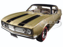 1967 Chevrolet Camaro Z/28 Gold with Black Stripes 1/18 Diecast Model Car Road Signature 92188