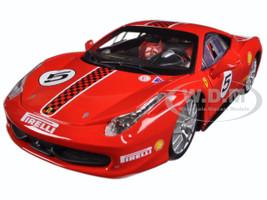 Ferrari 458 Challenge #5 Red 1/24 Diecast Model Car Bburago 26302