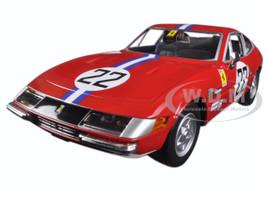 Ferrari GTB4 Competizione #22 Red 1/24 Diecast Model Car Bburago 26303