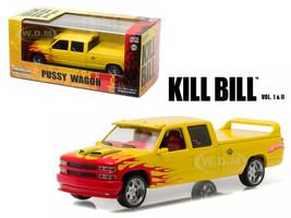 1997 Chevrolet Silverado Custom Crew Cab Pussy Wagon Pickup Truck Kill Bill Vol. 1 & 2 Movie 1/43 Diecast Model Car Greenlight 86481