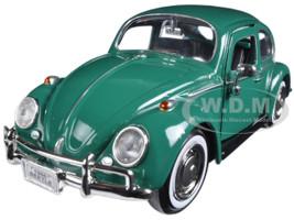 1966 Volkswagen Beetle Green 1/24 Diecast Model Car Motormax 73223 grn