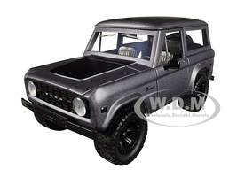 1973 Ford Bronco Matt Gray Black Top Just Trucks 1/24 Diecast Model Car Jada 98279