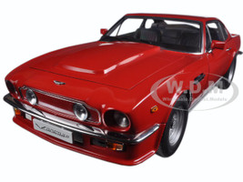 1985 Aston Martin V8 Vantage Suffolk Red 1/18 Diecast Model Car Autoart 70222