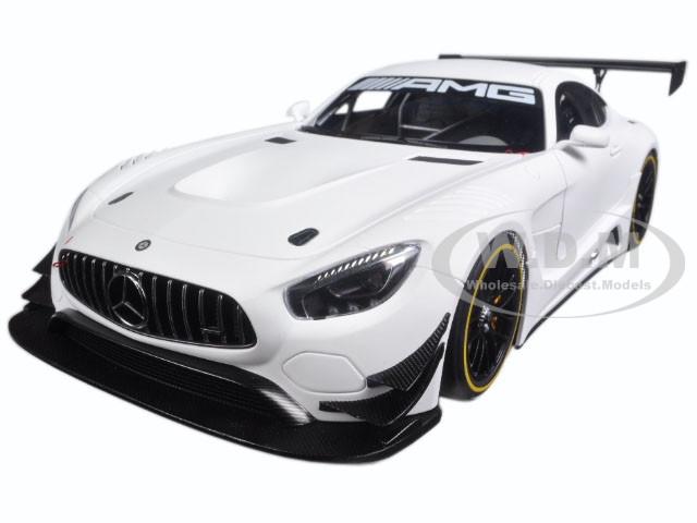 Mercedes AMG GT3 Plain Color Version Matt White 1/18 Model Car Autoart 81531