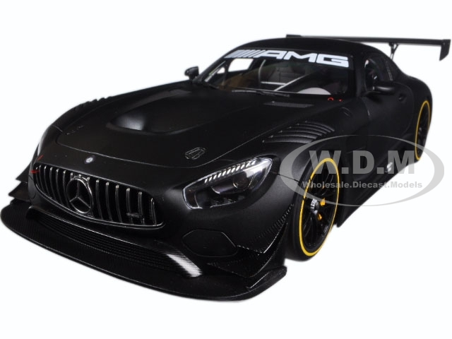 Mercedes AMG GT3 Plain Color Version Matt Black 1/18 Model Car Autoart 81532