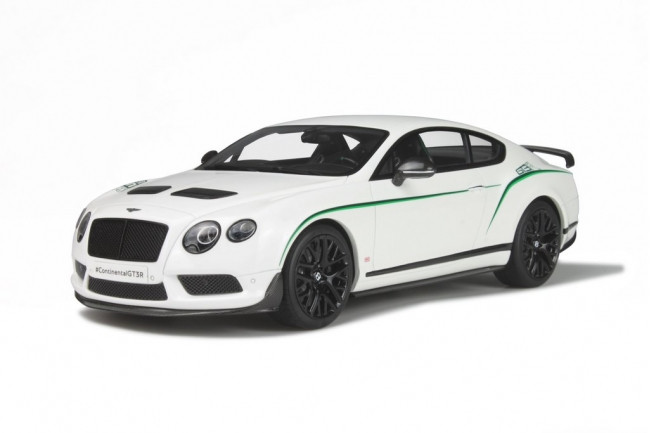 Bentley Continental GT3-R White Limited Edition to 1500pcs 1/18 Model Car GT Spirit GT121