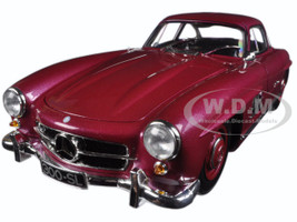 1954 Mercedes 300 SL Gullwing Strawberry Red Limited Edition 1/18 Diecast Model Car Minichamps 180039008