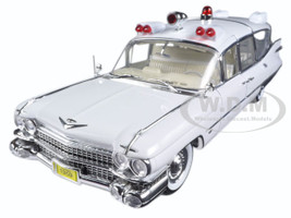 1959 Cadillac Ambulance White Precision Collection Limited Edition 1/18 Diecast Model Car Greenlight 18004