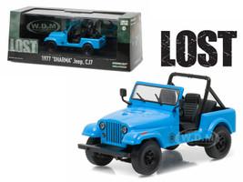 """1977 """"Dharma"""" Jeep CJ7 Blue """"Lost"""" TV Series (2004-2010) 1/43 Diecast Model Car Greenlight 86309"""