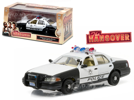"2000 Ford Crown Victoria Police Interceptor ""The Hangover"" (2009) Movie 1/43 Diecast Model Car Greenlight 86506"