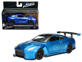 "Brian's 2009 Nissan GTR R35 Blue Ben Sopra ""Fast & Furious"" Movie 1/32 Diecast Model Car Jada 98270"