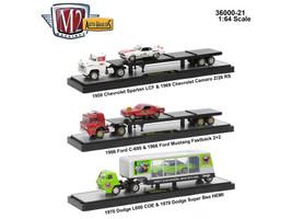 Auto Haulers Release 21, 3 Trucks Set 1/64 Diecast Models M2 Machines 36000-21