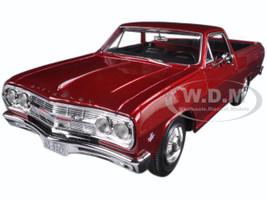 1965 Chevrolet El Camino Metallic Red 1/25 Diecast Model Car Maisto 31977