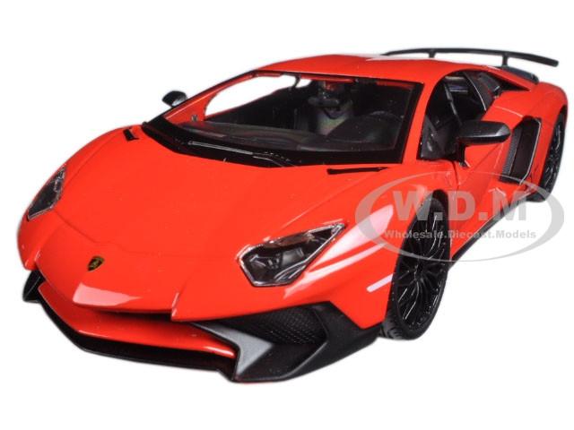 Lamborghini Aventador Lp750 4 Red 1 24 Diecast Model Car