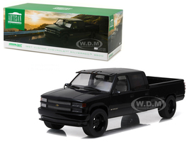 1997 Chevrolet C-3500 Crew Cab Silverado Pickup Truck Black 1/18 Diecast Model Car Greenlight 19016