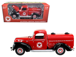 "1940 Ford Tanker ""Texaco"" Red 1/18 Diecast Model Car Beyond Infinity 0605"