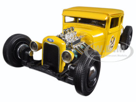 "1929 Ford Model A Yellow #2 ""Outlaws"" 1/24 Diecast Model Car Maisto 31354"
