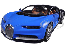 Bugatti Chiron Blue 1/24 Diecast Model Car Maisto 31514